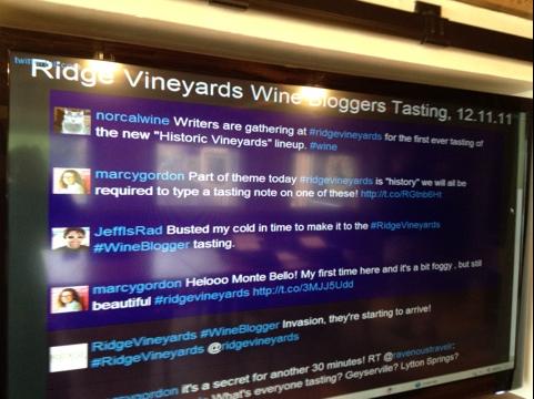 Pinky Strength: The #RidgeVineyards Blogger Tasting (3/6)