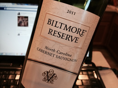 Biltmore Reserve 2011 North Carolina Cabernet Sauvignon.  What?  You thought I was going to pop open some DRC?  You crazy!