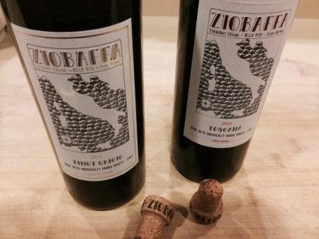 Ziobaffa 2013 Pinot Grigio and 2012 Toscana