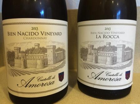 Castello di Amorosa 2013 Bien Nacido Vineyard Chardonnay and 2013 La Rocca Bien Nacido Vineyard Chardonnay